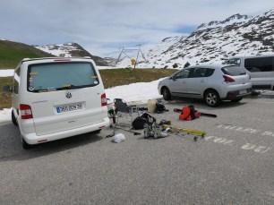 Glandon. Guys with Ski Equipment