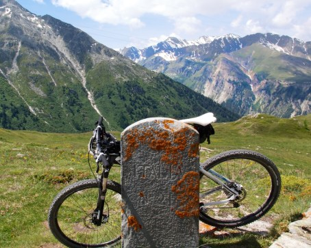 Old French/Italian border. Col du Petit Mont Cenis