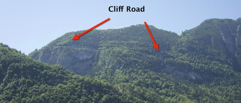 Early kms, cliff road