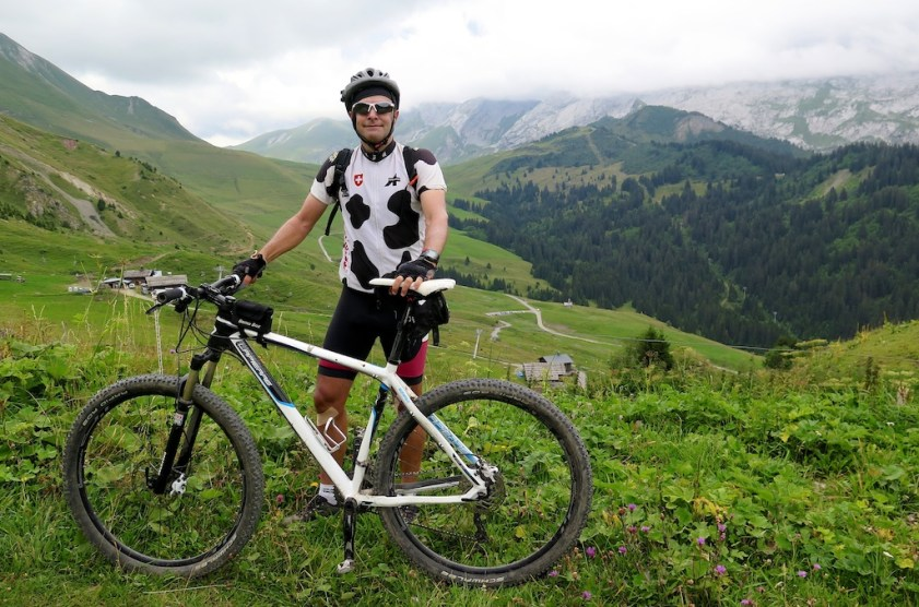 Me and my badly fitted helmet block view of Col des Annes