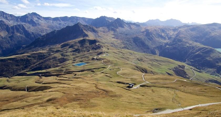 View of Col du Joly below