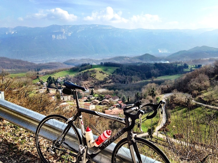 Cycling Mecca:  The Vercors Massif in Distance