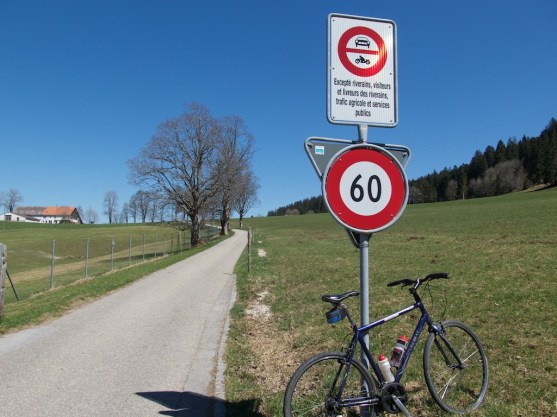 Road open to locals and bikes