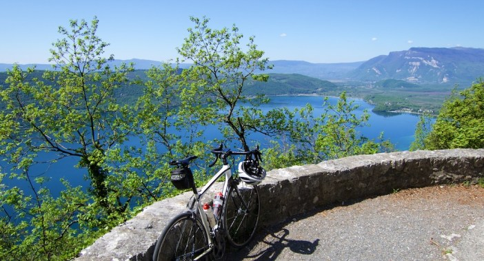 Lac du Bourget.  Grand Colombier top right.