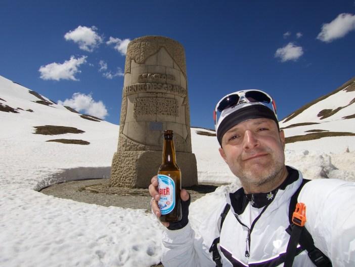 Galibier beer at Desgranges monument