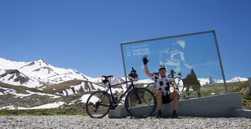4 kms below Col du Galibier. The Col is that little dent just left of my saddle