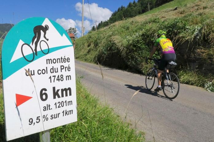 Col du Pré is steep