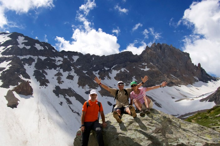 Hiking with Philippe and Doreen above Cormet de Roselend