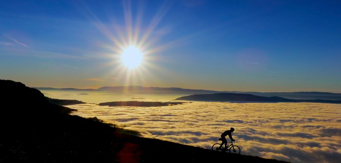 Cycling Above the Clouds and Sunsets