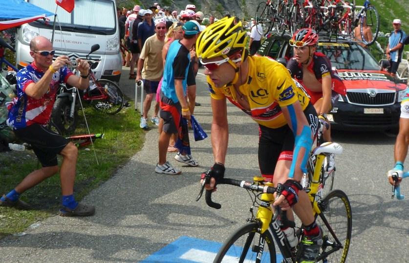 Cadel Evans in yellow