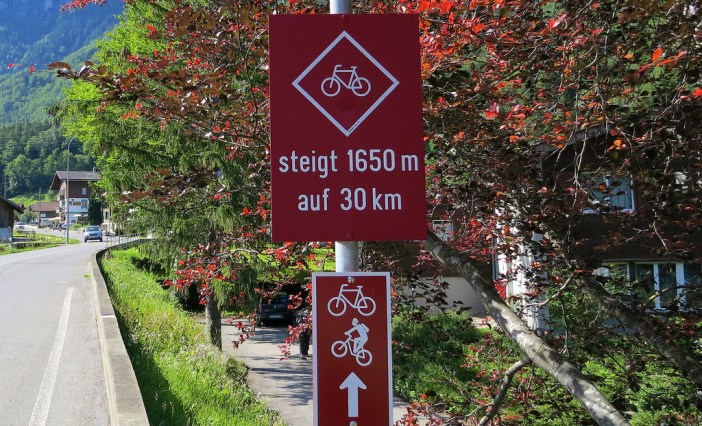 Swiss climbs often have the stats at the start. Grimselpass is tough.