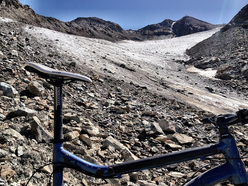 End of the road: Glacier du Varet