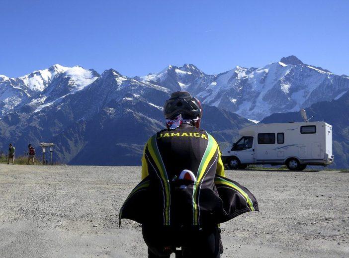 Team Jamaica arrives at Col du Joly