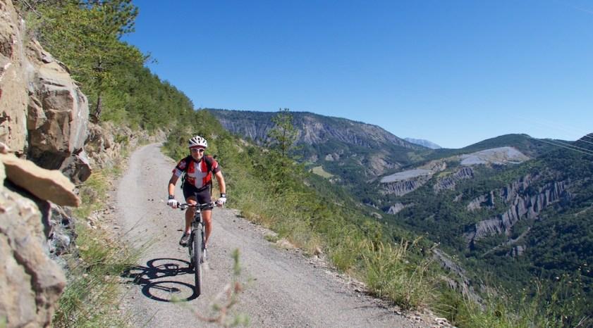 Back road descending Mont Colombis