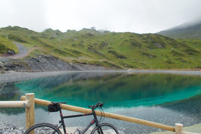 The goal:  top middle -  Col du Fornet