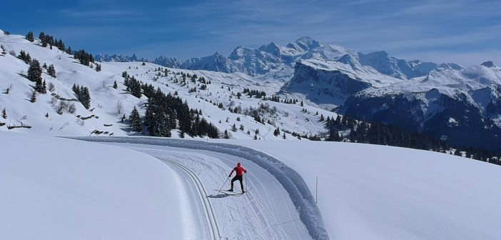 Cycle Col de Joux Plane, Rent XC Skis at Summit