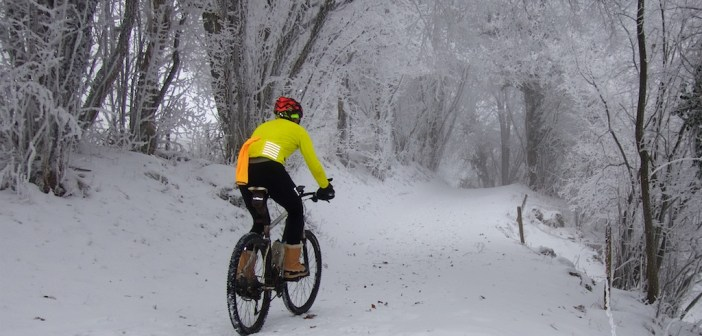 January Snow Cycling