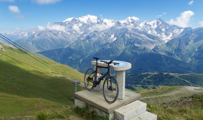 2435 metres.  View from Aguille Croche