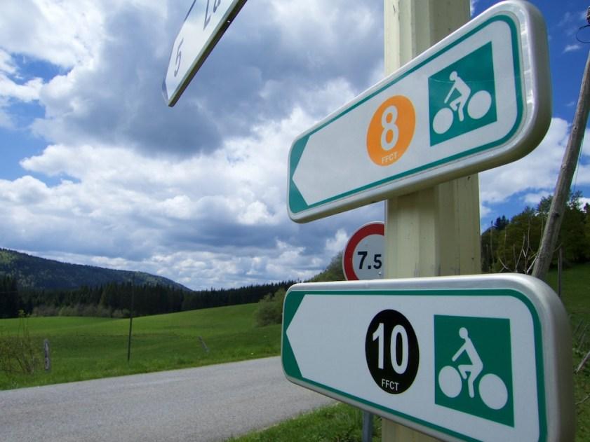 Jura Department Cycling Signs