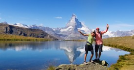 Stellisee, the Matterhorn, and my lovely bride.