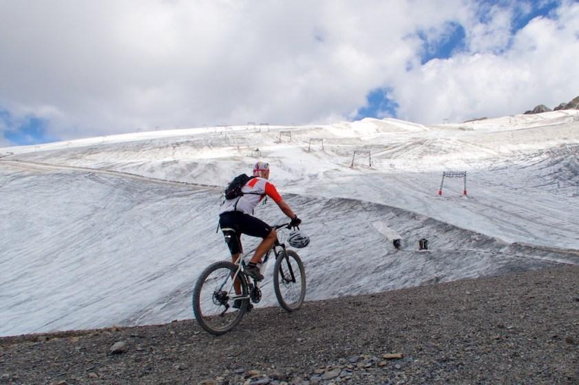 Col du Jandri and the Glacier de Mont-de-Lans