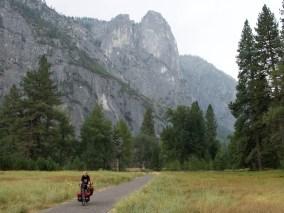 Riding the bike lanes in Yosemite NP