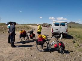 Start of our bike trip