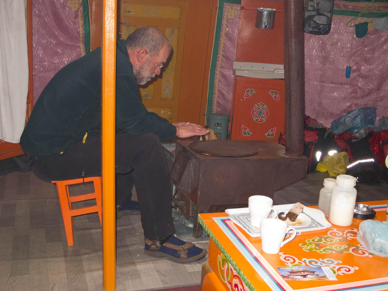 Inside a ger at a Hujirt ger camp