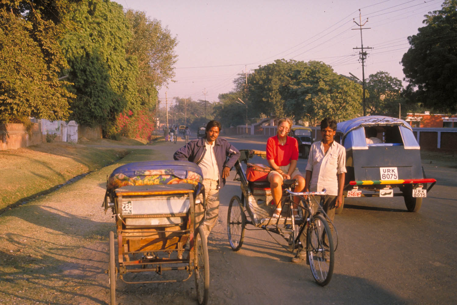 our rikhaw drivers in Agra