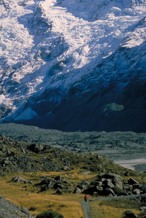 Hiking near mount Cook