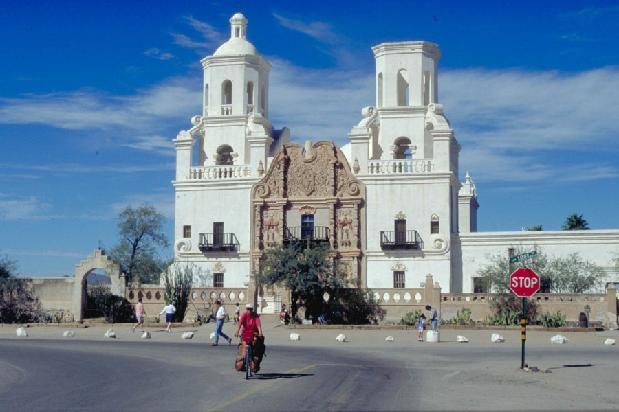 the famous mission church of San Xavier del Bac