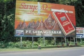 huge billboard for kretek cigarettes