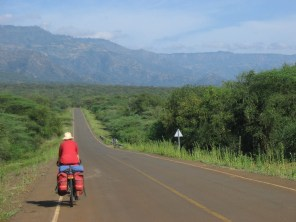 up to escarpment again to Iten