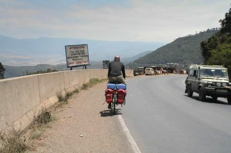 down the escarpment near Nairobi
