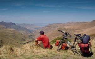 Overlooking the Sani pass