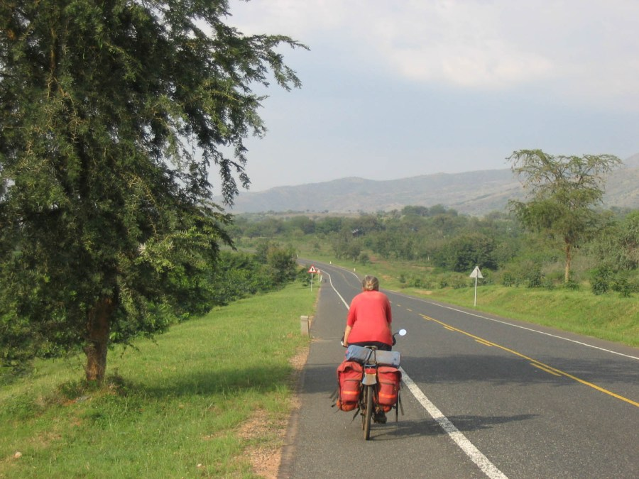 the new highway south of Fort Portal