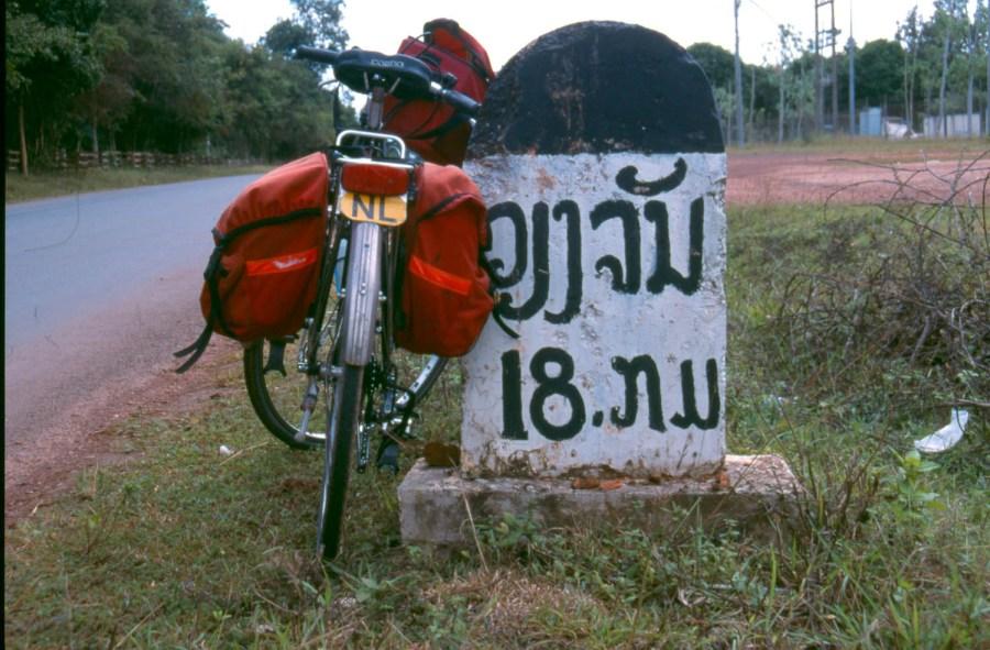 18 kilometers to Vientiane