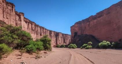 ingang van Talampaya Canyon