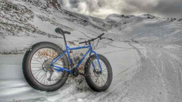 how to ride a bike in the snow