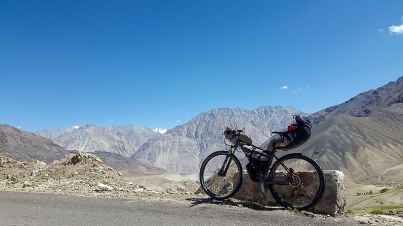 The view from Khardung of the Karakoram range