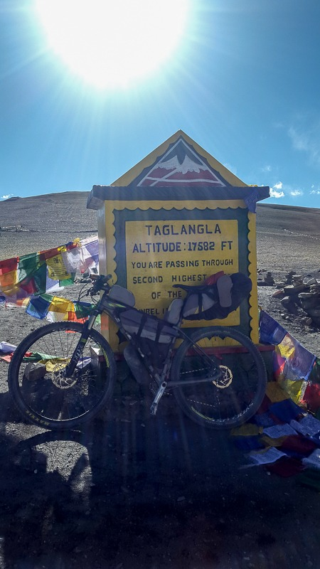 Tanglang La on the Leh-Manali highway at an altitude of 17582 ft