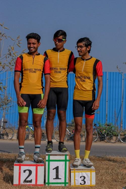 Hyderabad Racing Circuit podium