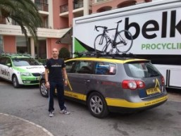 YBT's support car with Team Belkin.