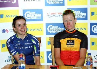 Interview: Jolien D,Hoore & Elinor Barker Stage 2 Womens Tour 2015