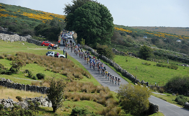 Peloton on Dartmoor