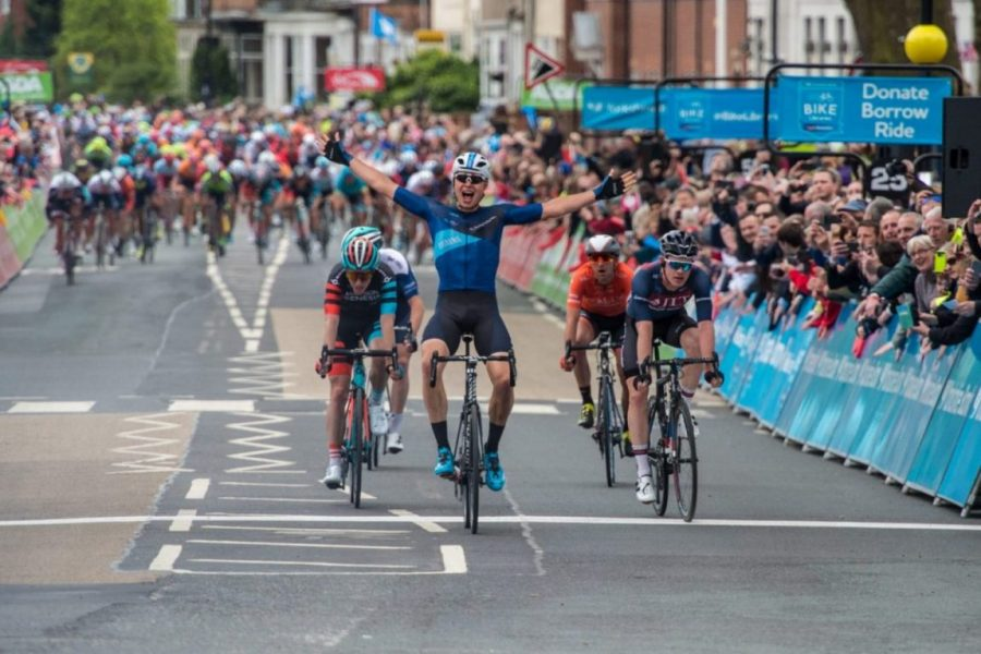 Harry Tanfield wins Stage 1  in the 2018 Tour De Yorkshire in Doncaster