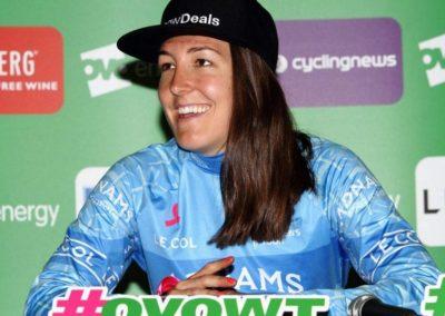 Interview – Dani Rowe Adnams Blue Jersey – Stage 2 – OVO Women's Tour 2018