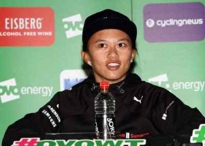 Interview – Coryn Rivera Green Leaders Jersey – Stage 3 – OVO Women's Tour 2018