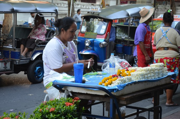The traditional side of life in Bangkok, Thailand