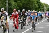 Het peloton, met daarin ondermeer Robbie McEwen in de kleuren van Katusha, door Zuid-Holland (foto: © Evie van der Spoel/Cyclingstory.nl)